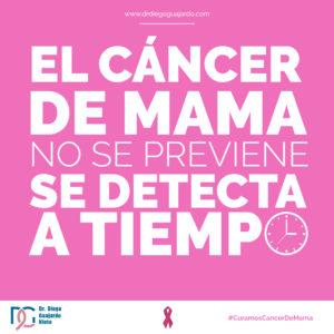El cáncer de mama no se previene se detecta a tiempo